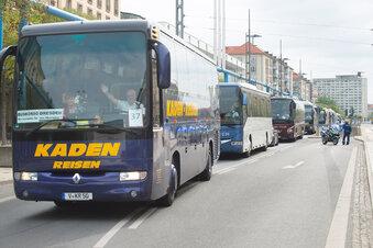 Dresden: Behinderungen durch Bus-Demo