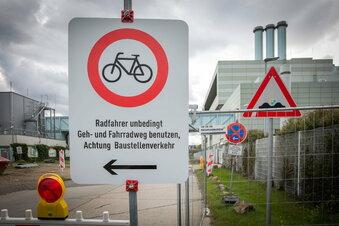 Lösung für gesperrten Radweg in Dresden