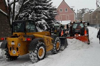 Wilsdruff befreit sich von Schneemassen