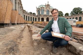 Überraschende Funde im Zwingerhof in Dresden