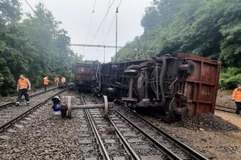 Güterzug in der Nähe von Prag entgleist