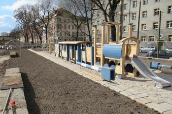 Neuer Park in Dresden nimmt Gestalt an
