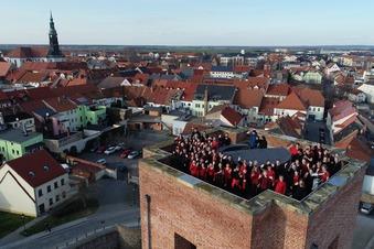 MDR filmte Jugendchor auf dem Bergfried