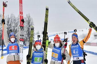 Staffelfrauen und Preuß glänzen in Oberhof