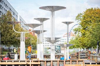Promenade mit Schalenbrunnen bald fertig