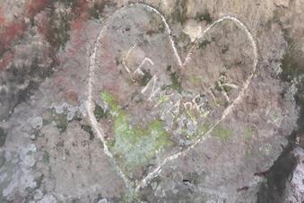 Felsen-Schmierereien in der Böhmischen Schweiz