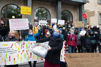 Demo vor dem Dresdner Rathaus
