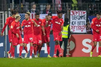 Leipzig müht sich ins Achtelfinale des DFB-Pokals