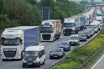 Protest in Dresden gegen den Ausbau der A4