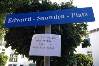 Das neue Snowden-Schild
