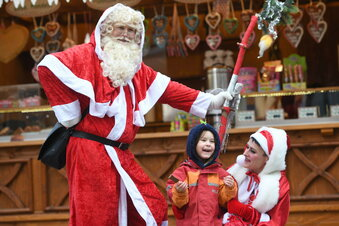 Shoppen mit dem Weihnachtsmann