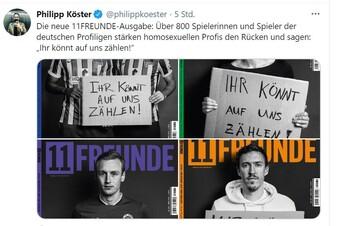 Fußballer unterstützen homosexuelle Profis