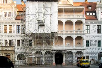 Schloss-Loggia bekommt Renaissance-Fresken