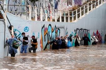 Schwere Regenfälle in Griechenland