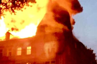 Wohnhaus in Sebnitz abgebrannt