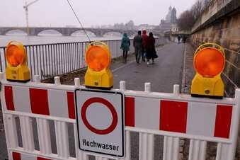 Hochwasser in Dresden geht langsam zurück