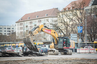 Dresden: Bagger dürfen wieder buddeln