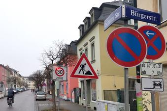 Vollsperrung in Dresden-Pieschen