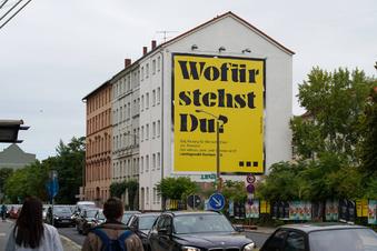 Leipzigs ungewöhnlichstes Wahlplakat
