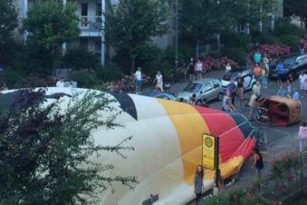 Dresden: Ballon landet in Wohngebiet
