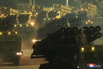 Raketenschau in Nordkorea