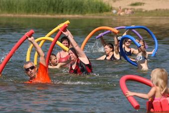 Heidenauer machen Leute fit im Wasser