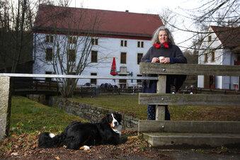 Im Hüttertal über den Mühlgraben schippern
