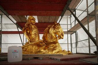 Neue Schäden am Goldenen Reiter