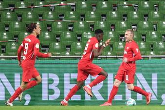 RB Leipzig mit Mühe im Pokalfinale