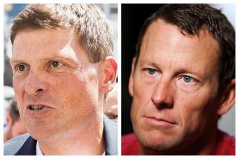 Armstrong und Ullrich strampeln gemeinsam