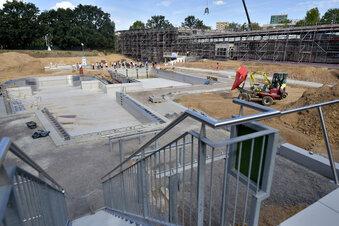 Ein Blick in Dresdens neues Kombibad