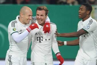 Bayern, Bayer und Wolfsburg im Viertelfinale