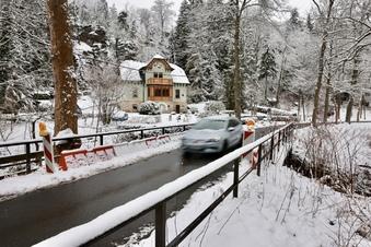Einsturzgefahr: Brücke im Bielatal gesperrt