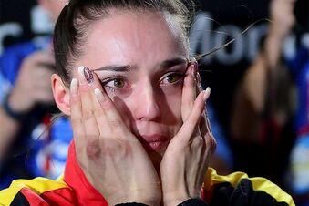 Überraschte Weltmeisterin