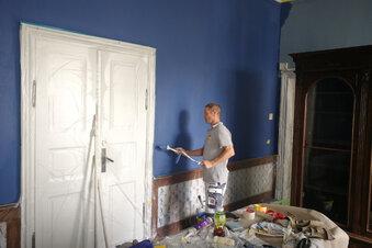 Malerarbeiten auf Schloss Nöthnitz