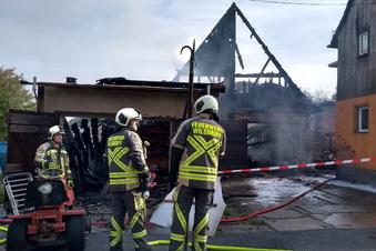 Wilsdruff: Großbrand in Kleinopitz