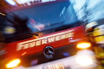 Dachstuhlbrand in Radebeul-Ost