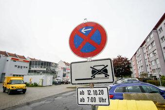 Straße in Bischofswerda voll gesperrt