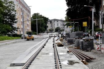 Bau der Bautzner Straße in Dresden dauert länger