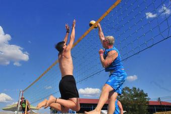 Hochkarätiger Beach-Volleyball
