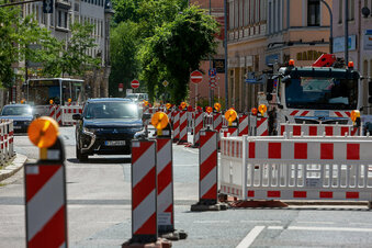 Freitals Dresdner Straße wieder frei