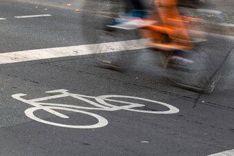 Längerer Radweg auf Königsbrücker Straße