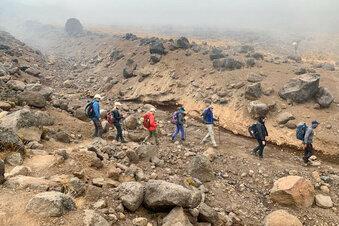 Bergsteiger flüchten vom Kilimandscharo