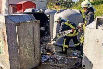 Feuerteufel zündelt an Wertstoff-Containern