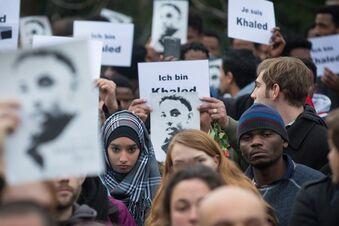 Dresdner gedenken Khaled B.