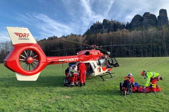 Kletterer am Pfaffenstein abgestürzt