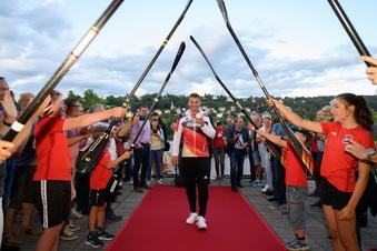 Sachsens Olympiasieger ist wieder in Dresden