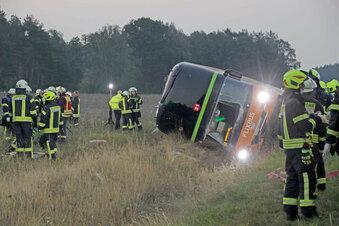 Schwerer Flixbus-Unfall auf A 24