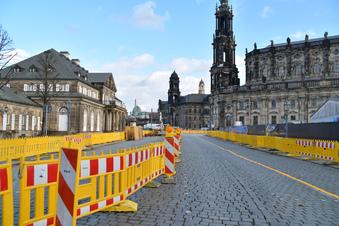 Dresden: Letzte Parkplätze am Theaterplatz fallen weg