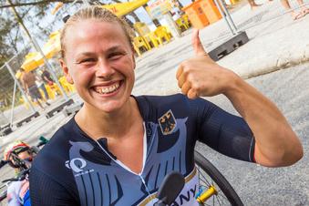 Paralympics-Siegerin fährt für guten Zweck